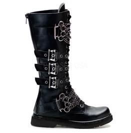 Demonia Mens Gothic Punk Rock Metal Biker Badass Boots