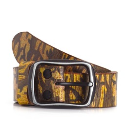 Camo Print Leather Belt