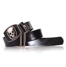 Womens Punk Rock Belt Skull Buckle