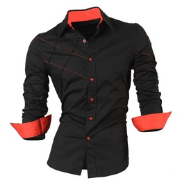 New Casual Long Sleeves Men Dress Shirt