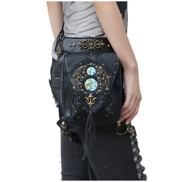 Uxisex Steampunk Cross Body Shoulder Victorian Rivet Leg Thigh Holster Bags