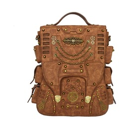 Unisex's Steampunk Vintage Retro Shoulder Large Capacity Travel Backback