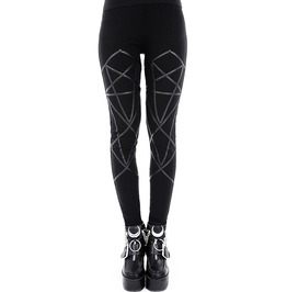Leather Geometry Leggings