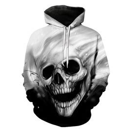 Melted Skull 3 D Print Streetwear Hipster Hoodie
