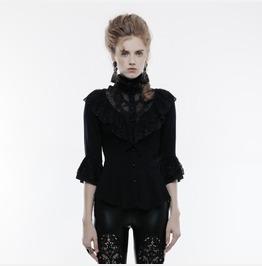 Punk Rave Women's Gothic Phoenix Tail Three Quarter Sleeve Shirt Y830