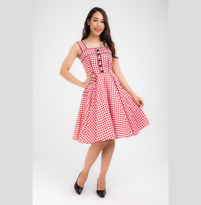 Gingham Party Dress