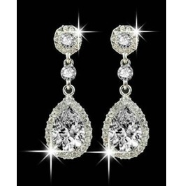 Enchanting White Clear Hypoallergenic Crystal Rhinestone Light Earrings