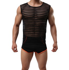 Seductive See Through Sleeveless Tank Top For Men