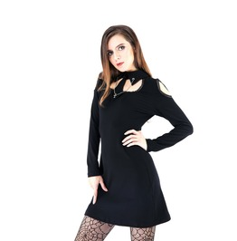 Dw150 Punk Dress With Tie Of Cross