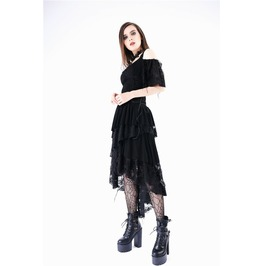 Dw152 Punk Ragged Rose Knitted Cocktail Dress