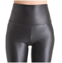 Cool! Thin Shiny Black Leggings Small 66cm/80cm High Waistline