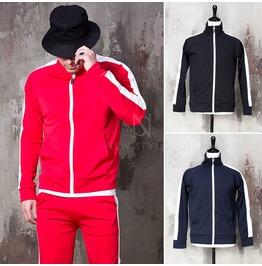 Side Long Striped Zip Up Jacket 315