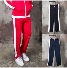 Side Long Striped Sweatpants 282