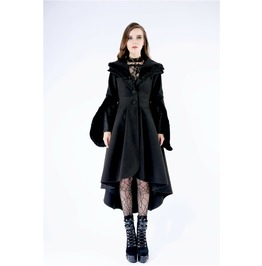 Jw123 Gothic Lady Woolen Cocktail Coat With Lovely Collar