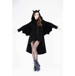 Jw125 Black Lolita Long Jacket With Bat And Ears