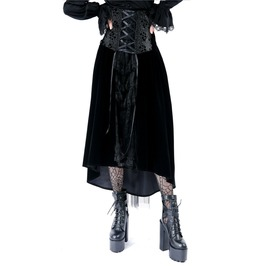 Kw115 Gothic Noble Velvet Skirt Or Wear Be A Corset Dress