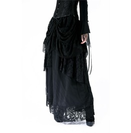 Kw117 Gothic Irregular Lace Skirt