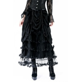 Kw119 Gothic Crinkle Dress With Layer Upon Layer
