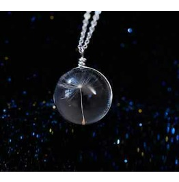 Cool Make A Wish Circular Glass Pendant