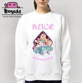 Alice In Wonderland Sweatshirt Harajuku Pastel Gothic Anime