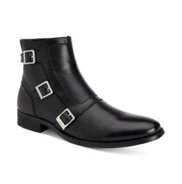 77e6b51eefd Handmade Men Triple Buckle Ankle Leather Boots, Men Monk Boots, Men Boots