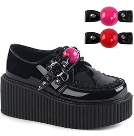 Demonia Creeper 222 Gothic Ball Gage Bondage Womens Creepers Shoes