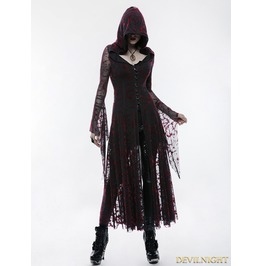 Gothic Witch Long Hooded Coat For Women Wy 836