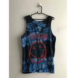 Nirvana Japanese Text Kurt Cobain Grunge Hippie Punk Rock Tie Dye Tank Top