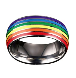 Rainbow Color Titanium Ring