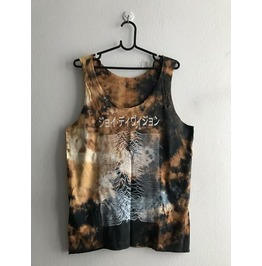 Joy Division Japanese Text Punk Rock Tie Dye Tank Top