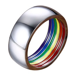Inner Lined Rainbow Color Ring