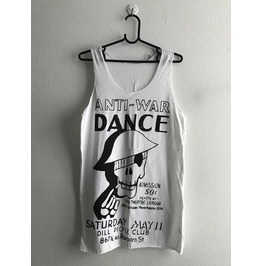 Anti War Lets Dance Pop Print Fashion Tank Top Vest M
