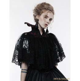 Gothic Lace Queen Style Short Cloak Wy 834