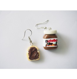 Kawaii Jewelry Earrings Nutella