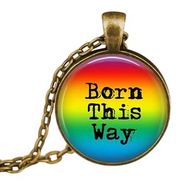 "Rainbow Pride ""Born This Way"" Pendant And Necklace"