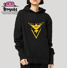 Pokemon Hoodie Anime Cool Zapdos Black Hoodie