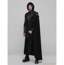 Black Gothic Uniform Long Cloak For Men Wy 878