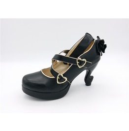 Vintage Heart Buckle Straps High Heel Women Shoes