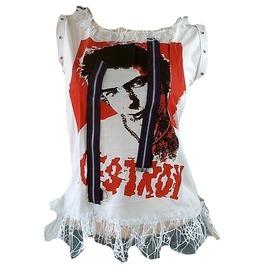 Cute Rockabilly Punk Rock Destroy Design Tunk T Shirt S