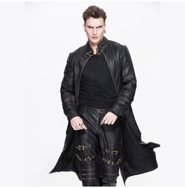 Convertible Punk Leather Coat Ct03602