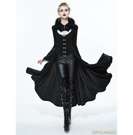 Black Gothic Dark Vampire Queen Style Jacket For Women Ct07301