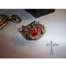 Redrum Steampunk Ring Steampunk Jewelry Steamretro