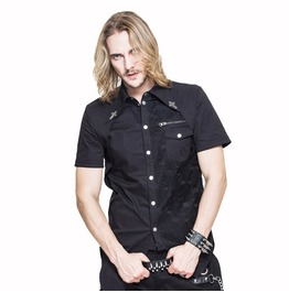 Goth Short Sleeve Asymmetric Shirt Sht022