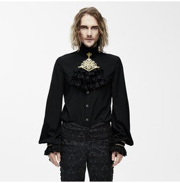 Goth Dress Shirt With Ornamental Jabot Sht02301/Sht02302