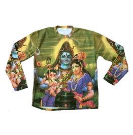 Shiva Parvati Ganesha Hindu Religion Tattoo Goa Shirt L