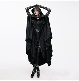 Goth Long Cape With Hood Ct057