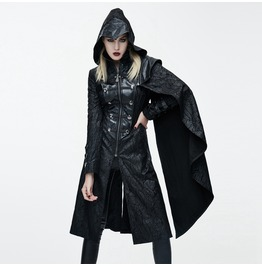 Goth Hooded Princess Coat With Pelisse Ct062