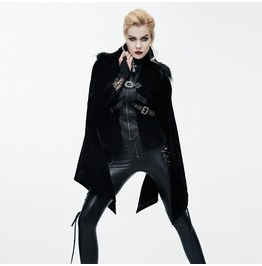 Punk Jacket With Fur Collar And Cape Ct06501/Ct06502