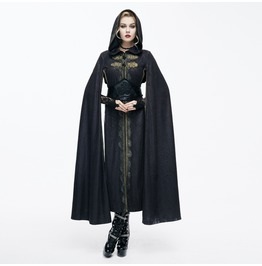 Hooded Goth Cape With Long Slits Ct071