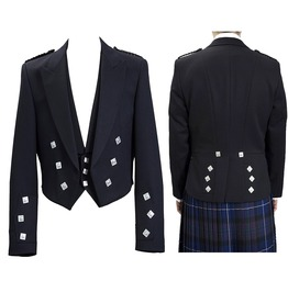 Prince Charlie Kilt Jacket With Waistcoat/Vest Traditional Scottish Jacket